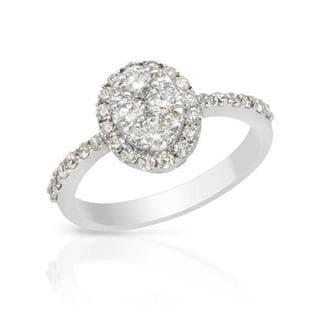 18k White Gold 0.94ct TDW Diamond Engagement Ring