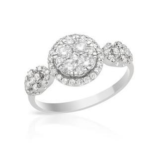 18k White Gold 0.81ct TDW Diamond Engagement Ring (G, SI2)