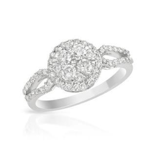 18k White Gold 0.79ct TDW Diamond Engagement Ring