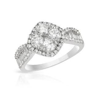 18k White Gold 1.43ct TDW Diamond Engagement Ring