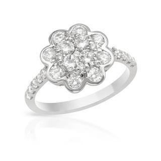 18k White Gold 1.28ct TDW Diamond Engagment Ring