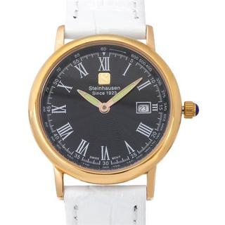 Steinhausen White Leather Date Watch