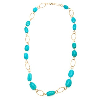 18k Yellow Gold Enzo Liverino Turquoise Necklace