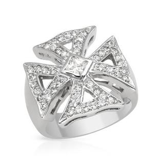 Cubic Zirconia/ 0.925 Sterling Silver Ring
