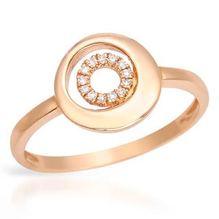 Vida Ring with Diamonds 14K Rose Gold