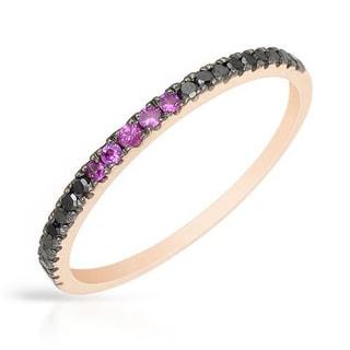 Vida Ring with Diamonds/ Rubies 14K Rose Gold