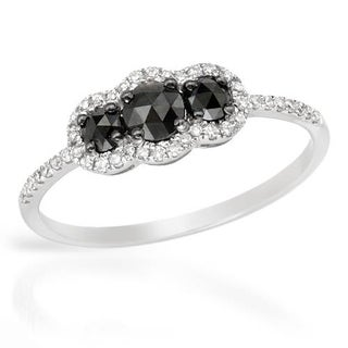 Vida 0.52ct TDW Black and White Diamond Engagement Ring