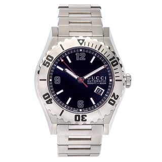 Pre-Owned Gucci Men's Pantheon YA115211 Stainless Steel Watch