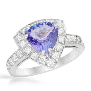 Ring with 2 3/4ct TW Diamonds and Tanzanite in 14K White Gold