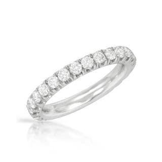 14k White Gold 1 1/6ct TDW Diamond Wedding Band