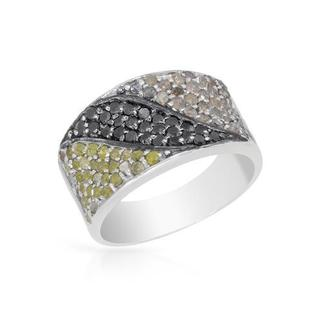 Ring with 1.32ct TW Genuine Diamonds in 925 Sterling Silver