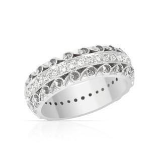 Eternity Ring with Diamonds 14K White Gold