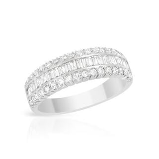 Ring with 0.9ct TW Diamonds of 18K White Gold