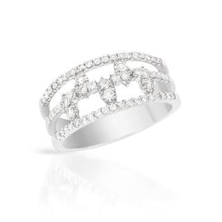 Ring with 0.56ct TW Diamonds Crafted in 18K White Gold