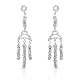 Earrings with Diamonds .925 Sterling Silver