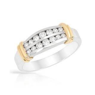 Ring with 0.53ct TW Diamonds in 14K Two-tone Gold