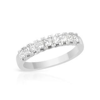 18k White Gold 0.77ct TDW Princess-cut Diamond Wedding Band