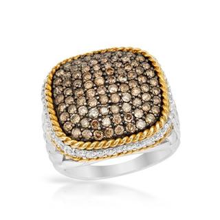 Ring with 2ct TW Diamonds Crafted in Two-tone Gold