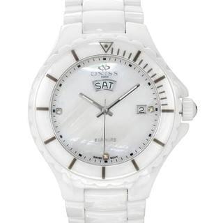 Men's ON8011-M White Ceramic Watch
