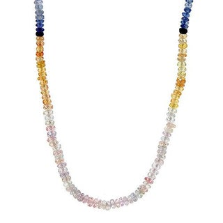 Necklace with 50.3ct TW Sapphires of 18K Yellow Gold