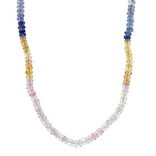 Charming Necklace with 58.00ct TW Genuine Sapphires in 18K Yellow Gold