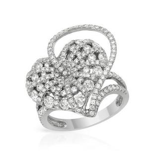 Heart Ring with 2.05ct TW Diamonds in 18K White Gold