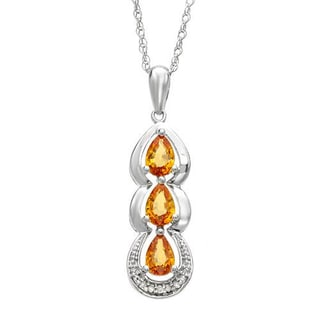 Sterling Silver 1.5ct TGW Necklace (J, I2)
