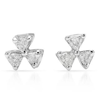 Stud Earrings with Diamonds White Gold