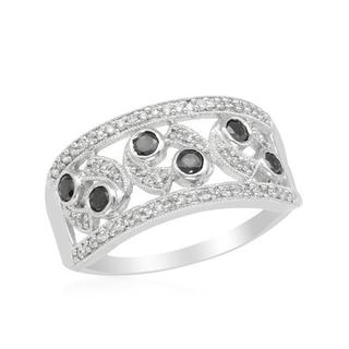 Ring with 0.52ct TW Genuine Diamonds Crafted in White Gold