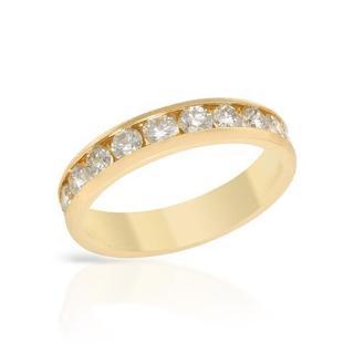14k Yellow Gold 1ct TDW Diamond Channel Wedding Band