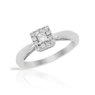 14k White Gold Diamond Engagment Ring