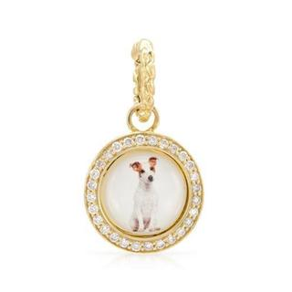 Hellmuth 14k Yellow Gold 1/6ct TDW Diamond Jack Russell Terrier Pendant