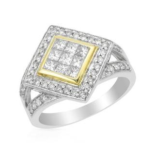Ring with 1ct TW Diamonds in Two-tone Gold