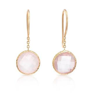 DAVINI COLLECTION BY MORRIS & DAVID Earrings with 4.00ct TW Genuine Quartz Crafted in 14K Yellow Gol