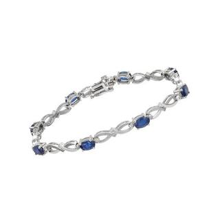 Davini Collection by Morris & David Bracelet with 5.15ct TW Diamonds and Sapphires in 14K Wh