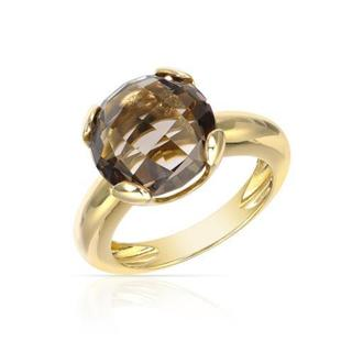 Davini Collection by Morris & David Ring with 5 1/2ct TW Topaz in 14K Yellow Gold