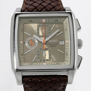 Men's SND763 Brown Leather Chronograph Watch
