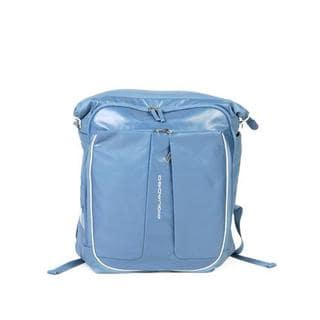 Piquadro Blue Leather Travel Bag