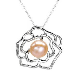 Necklace with Genuine 115mmFreshwater Pearl 925 Sterling Silver