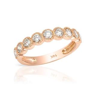 Ring with 1.01ct TW Diamonds of 14K Rose Gold