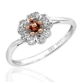 Vida Ring with Diamonds 14K Two-tone Gold