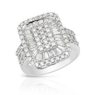 14K White Gold 2.00ct TW Diamond Ring