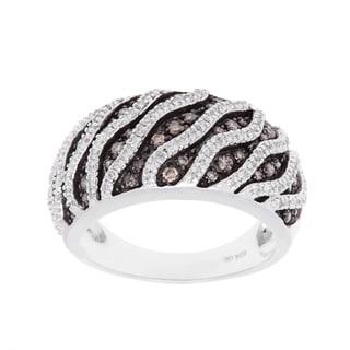 Ring with 0.96ct TW Genuine Diamonds White Gold