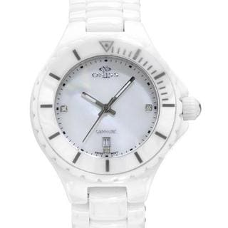 Women's ON8201-L/PK White Ceramic Watch
