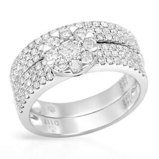 Ring with 1.17ct TW Genuine Diamonds 14K White Gold
