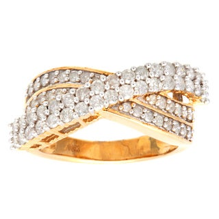Ring with 1.15ct TW Diamonds Two-tone Gold