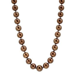 Necklace with Diamonds/ 10 125mmSouth Sea Pearls 14K Yellow Gold