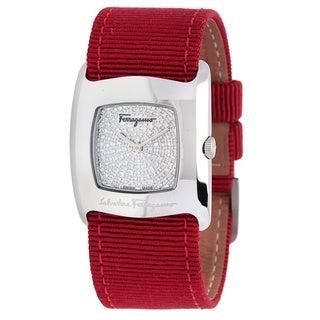 Pre-Owned Salvatore Ferragamo Women's Red Strap Watch