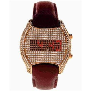 Ginza Women's 7RS Red Gold Leather Watch