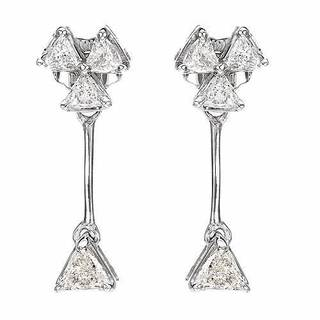 10k White Gold .55ct TDW Diamond Dangle Earrings (H-J, VS2-SI2)